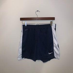 Nike Dri Fit Dark Blue & White Athletic shorts S